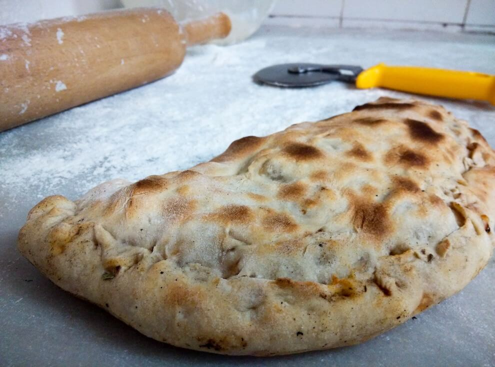 Calzone with scallion